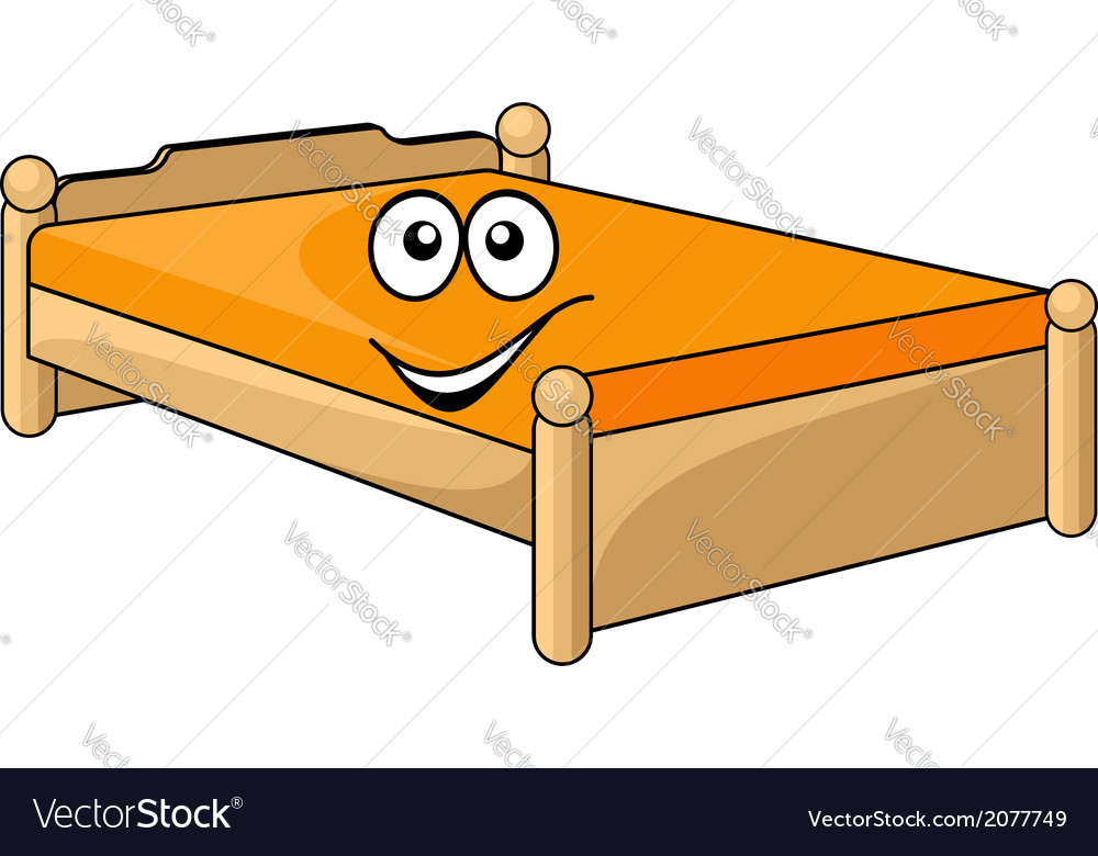 Comfortable cartoon bed vector | Price: 1 Credit (USD $1)
