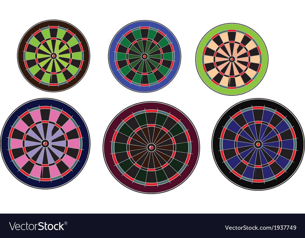 Dartboards set vector | Price: 1 Credit (USD $1)