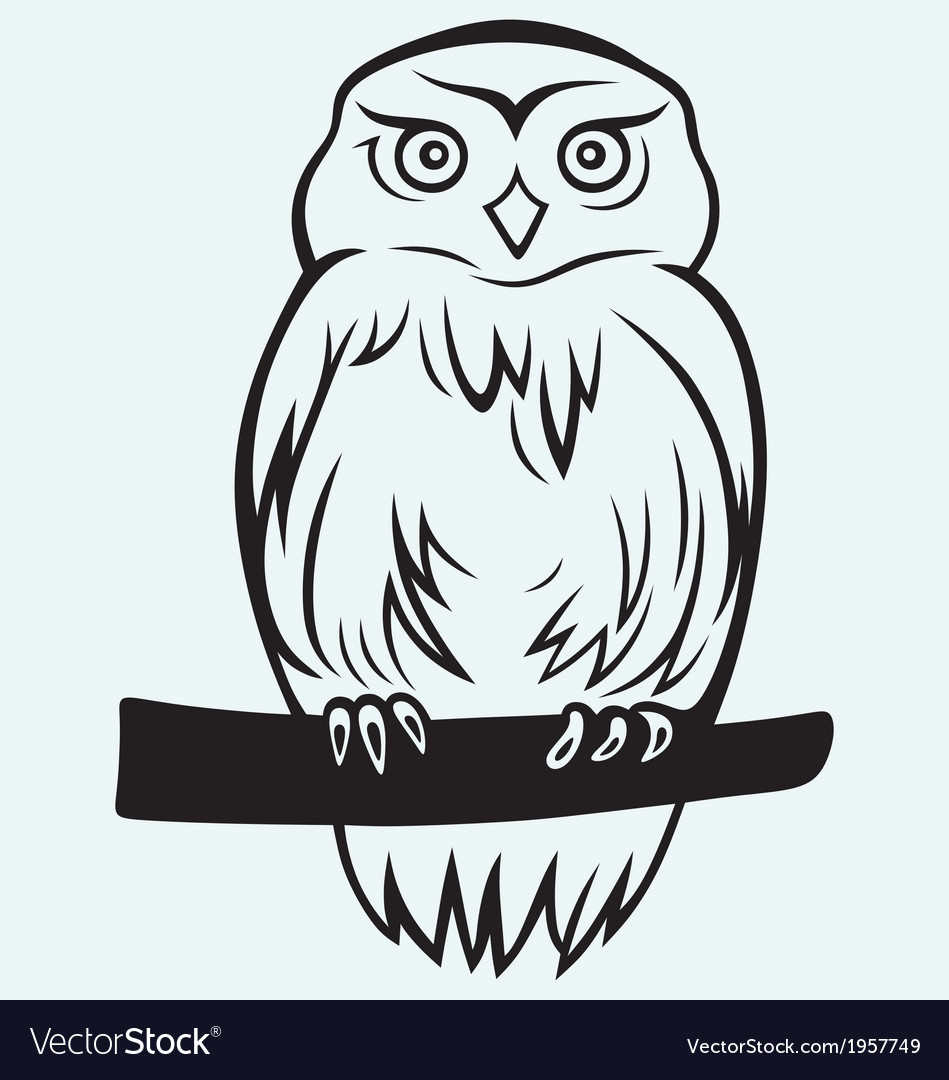 Eagle owl vector | Price: 1 Credit (USD $1)