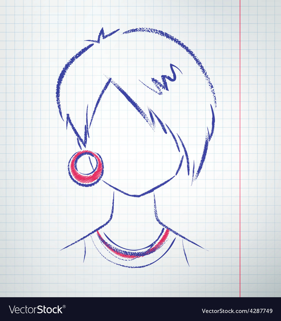 Female avatar vector | Price: 1 Credit (USD $1)
