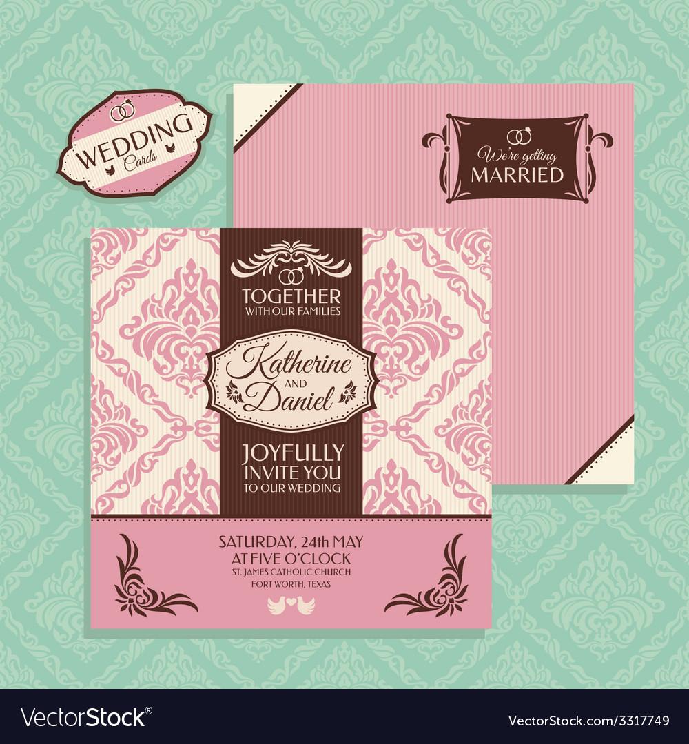 Floral wedding card vector   Price: 1 Credit (USD $1)