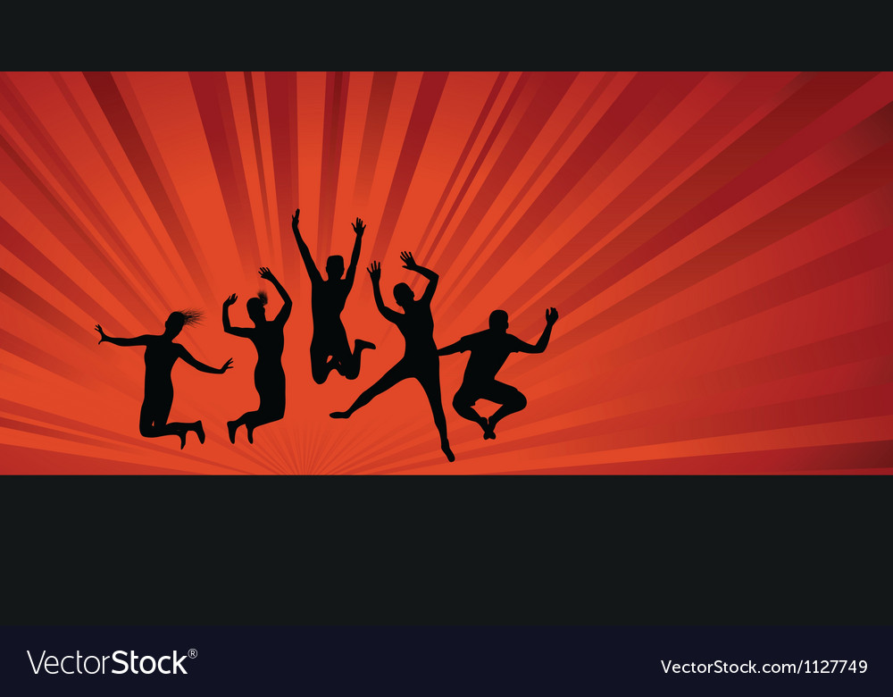 Jumping background people vector | Price: 1 Credit (USD $1)