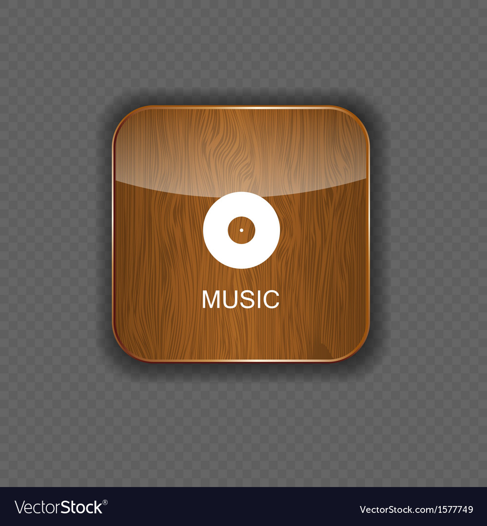 Music wood application icons vector | Price: 1 Credit (USD $1)