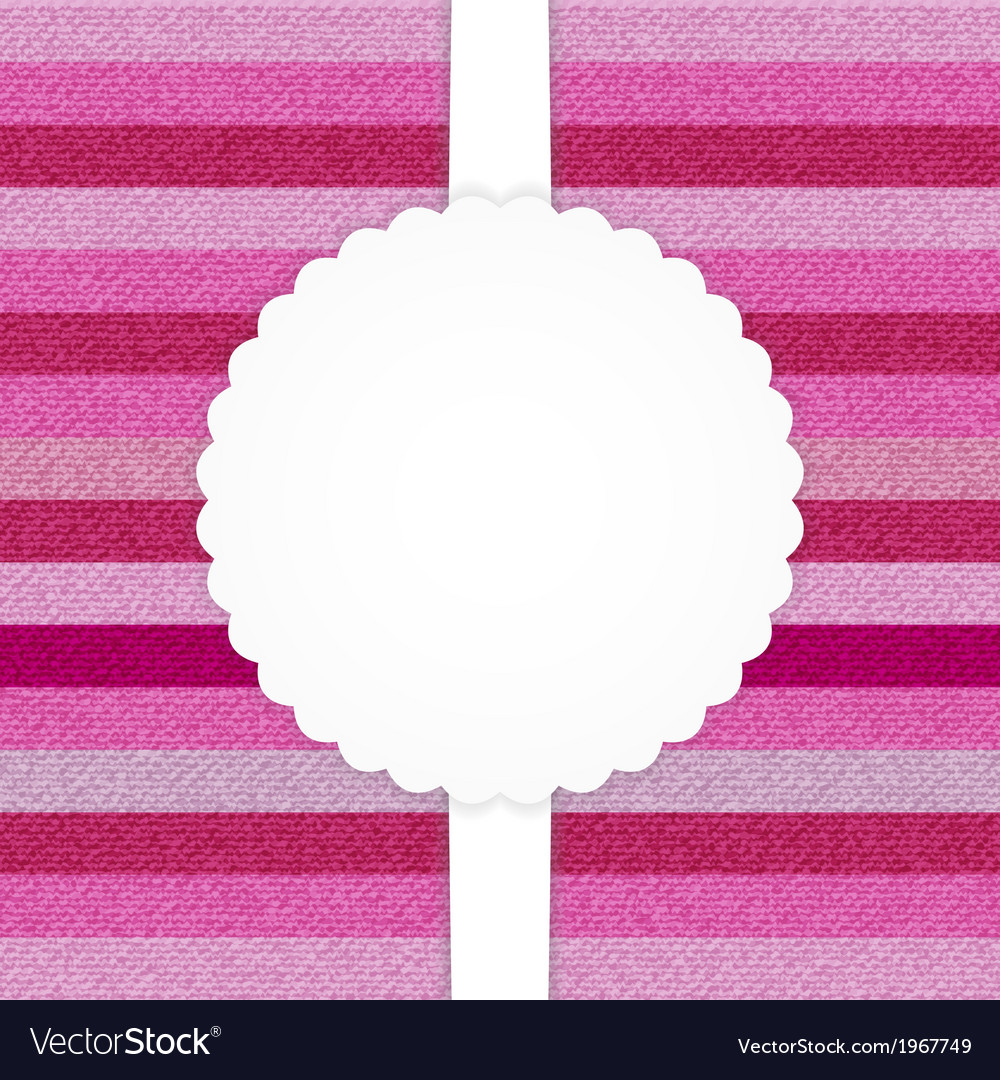 Pink horizontal stripped jeans card vector | Price: 1 Credit (USD $1)