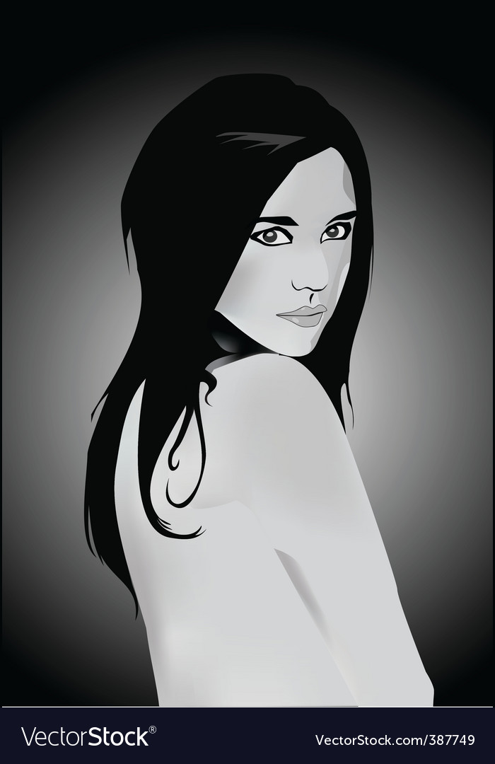Portrait of girl vector | Price: 1 Credit (USD $1)
