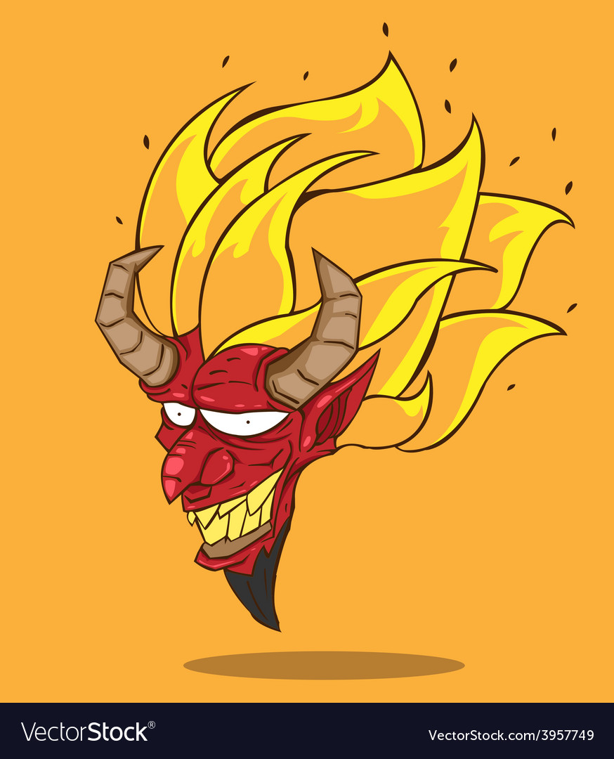 Red devil vector | Price: 3 Credit (USD $3)