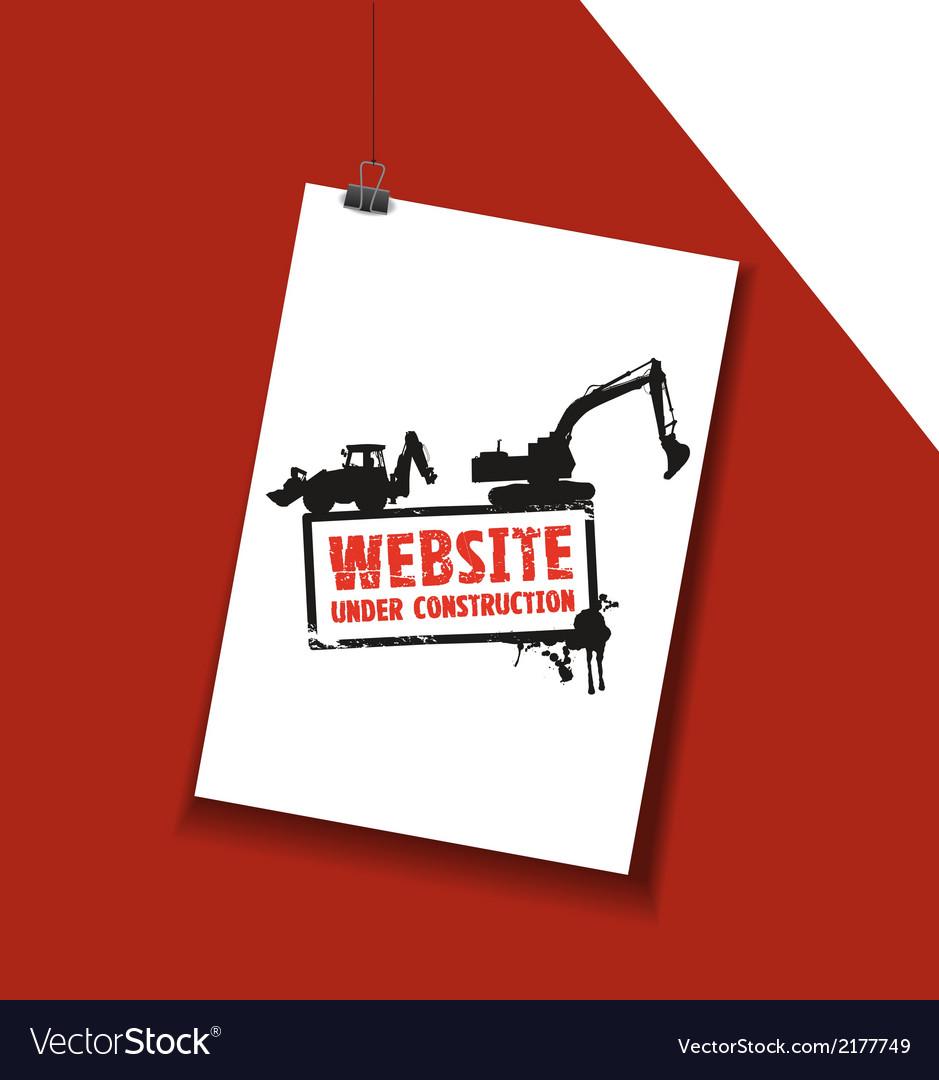 Website paper sign vector | Price: 1 Credit (USD $1)