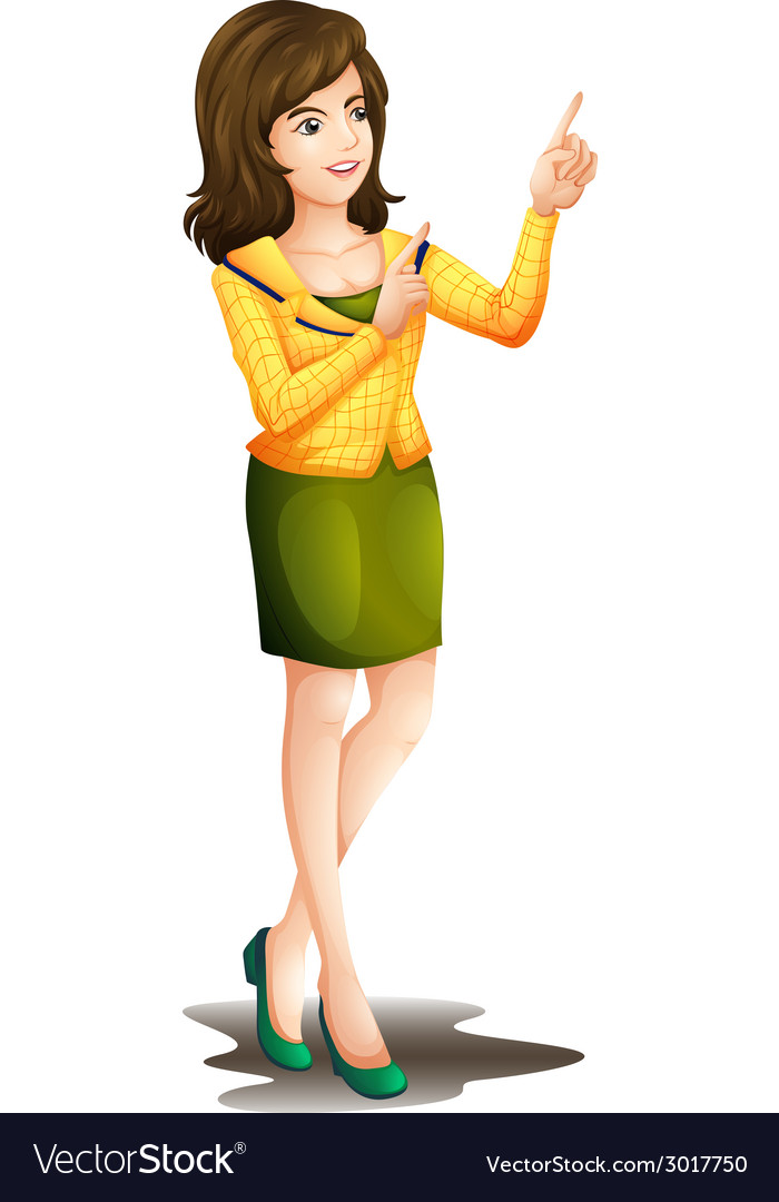 A working girl vector | Price: 1 Credit (USD $1)