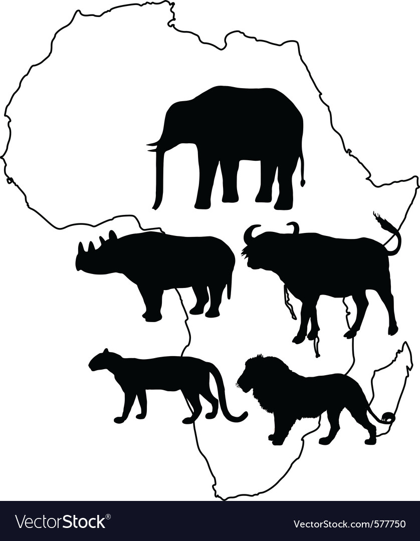 Africa big five vector | Price: 1 Credit (USD $1)