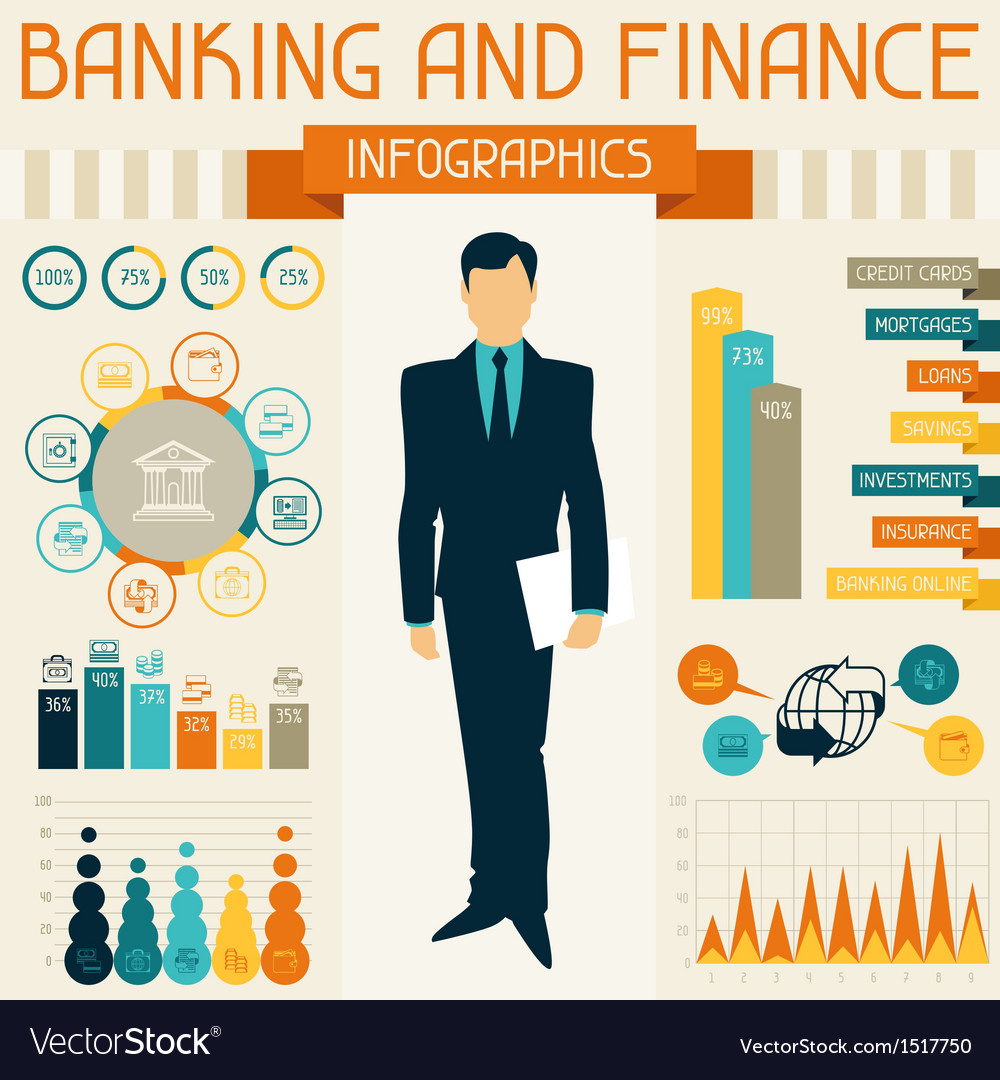 Banking and finance infographics vector | Price: 3 Credit (USD $3)
