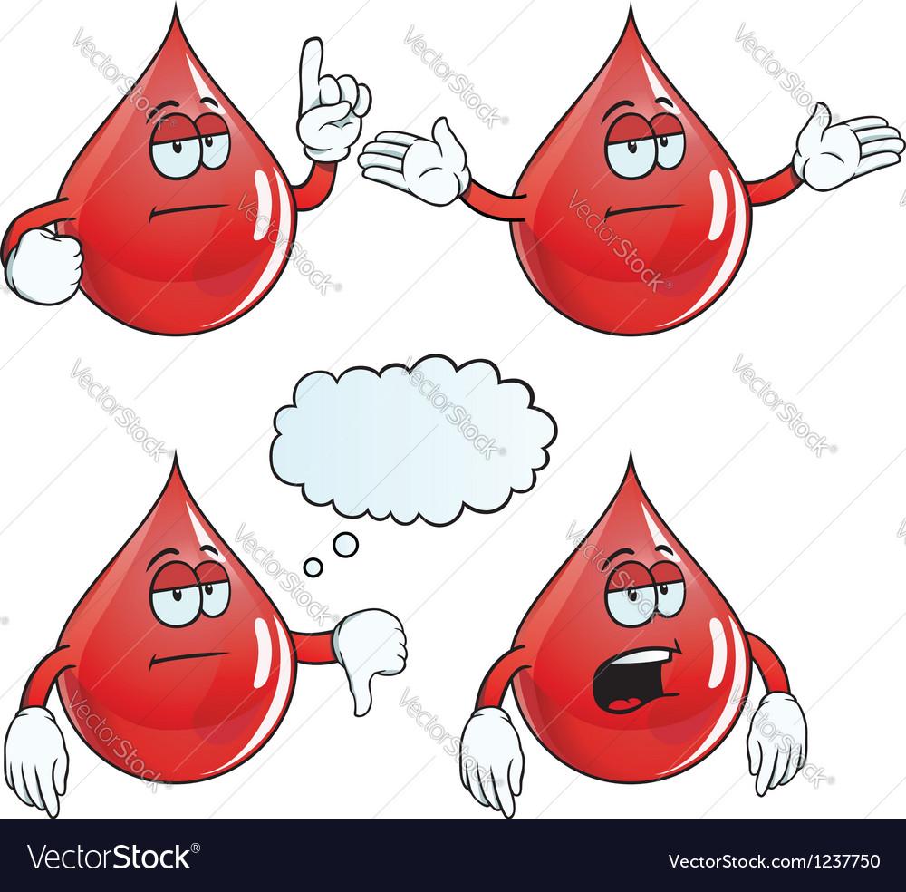 Bored blood drop set vector | Price: 1 Credit (USD $1)