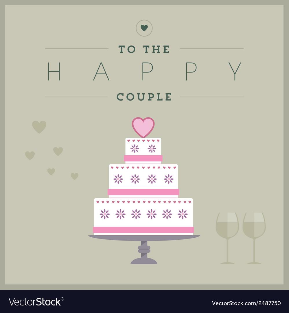Cake themed wedding card vector | Price: 1 Credit (USD $1)