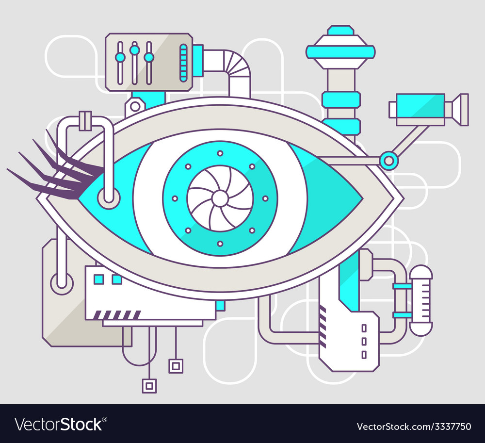 Industrial of the mechanism of eye color li vector | Price: 3 Credit (USD $3)
