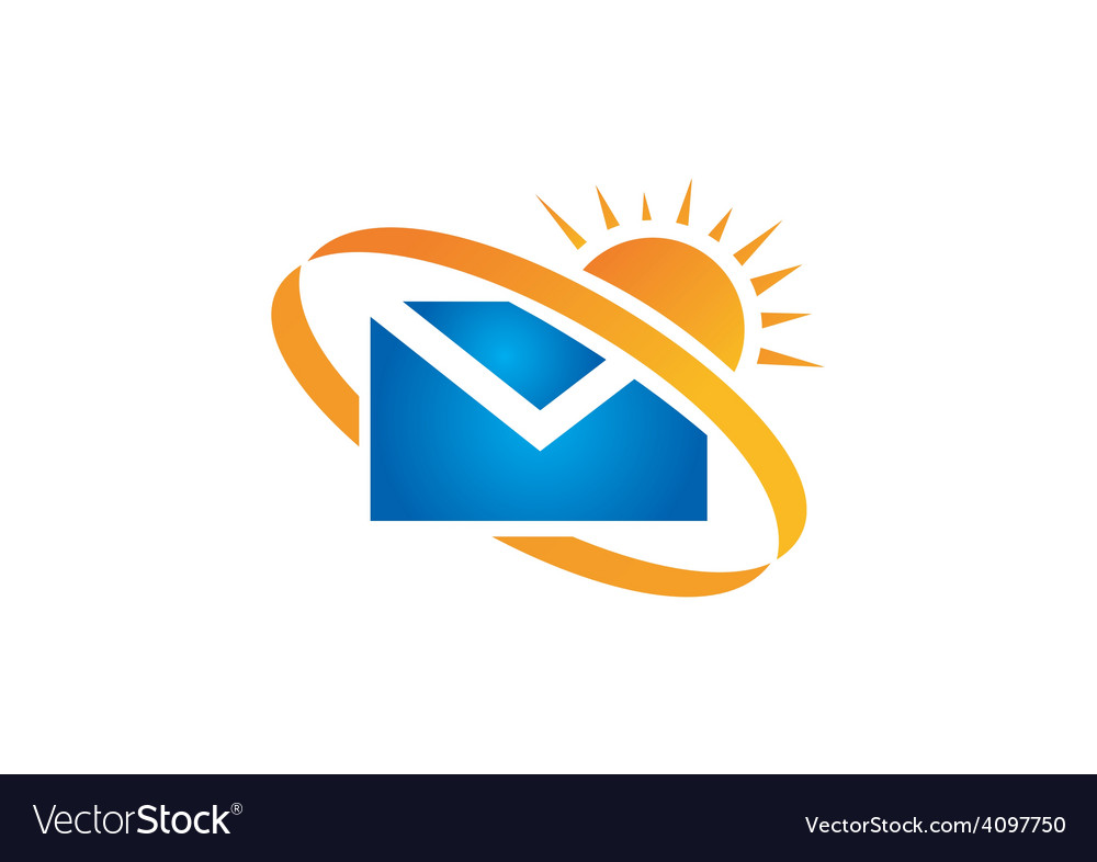 Mail message sunny day logo vector | Price: 1 Credit (USD $1)