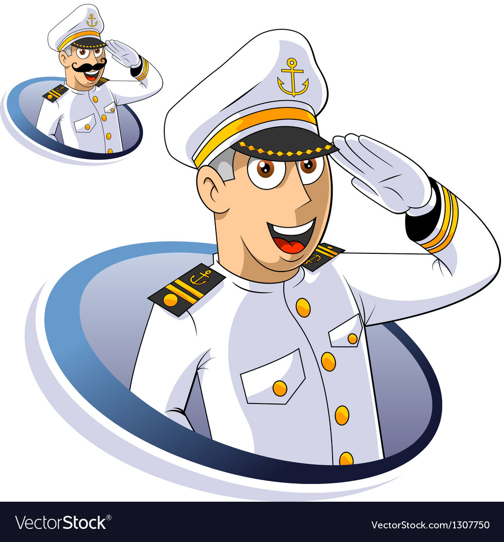 Marine captain vector | Price: 3 Credit (USD $3)