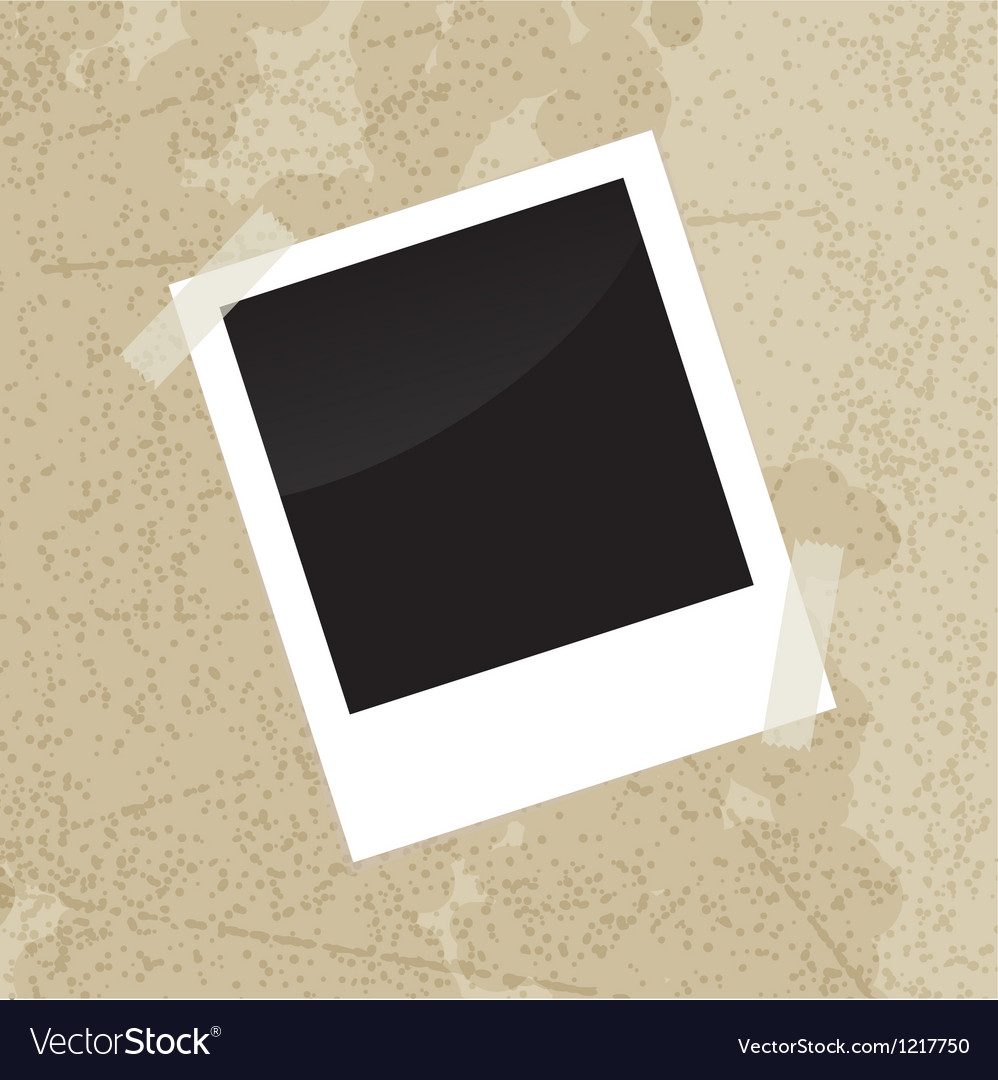 Photo frame on old vintage grungy background vector | Price: 1 Credit (USD $1)