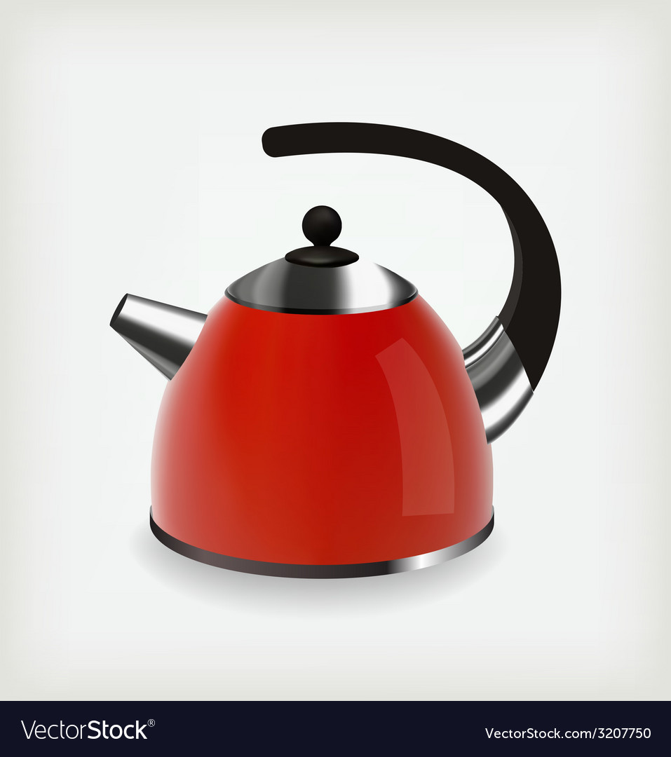 Red kettle vector   Price: 1 Credit (USD $1)