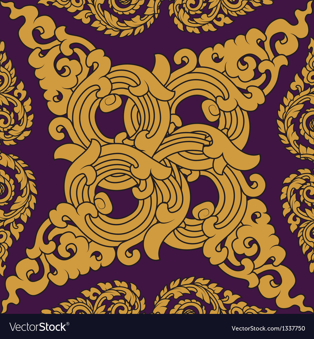 Seamless pattern baroque vector | Price: 1 Credit (USD $1)