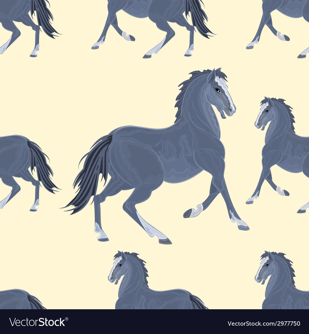 Seamless texture black horse exterior vector | Price: 1 Credit (USD $1)
