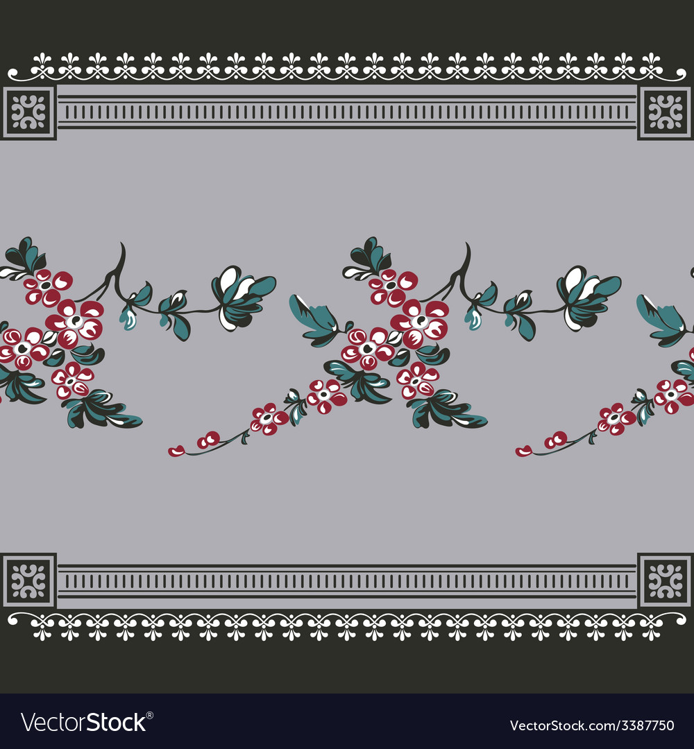 Seamless vintage with seamless floral vector