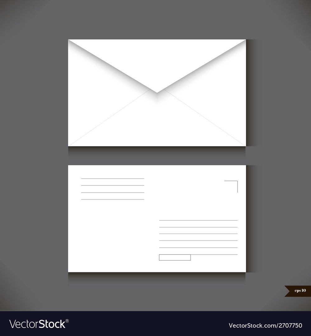 Two white paper envelope on gray background vector | Price: 1 Credit (USD $1)