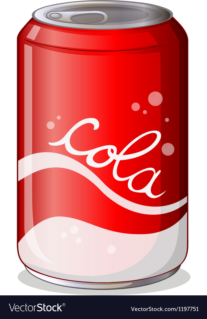 A can of cola vector