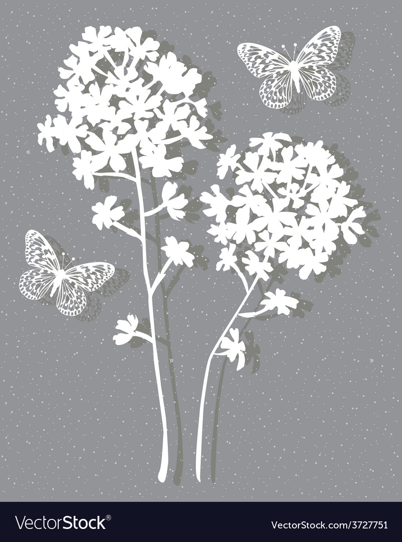 Floral on grey vector | Price: 1 Credit (USD $1)