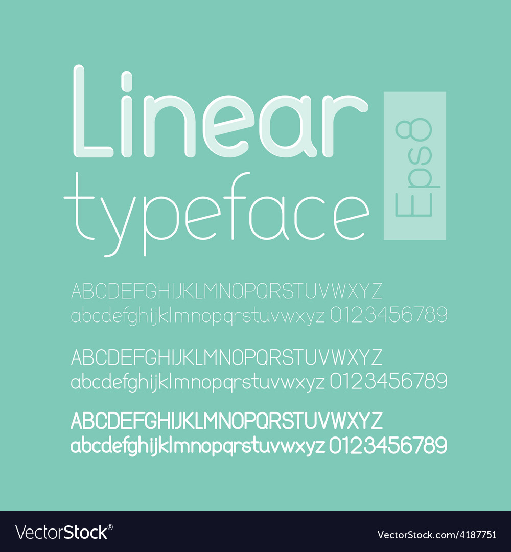 Linear letters and numbers vector | Price: 1 Credit (USD $1)