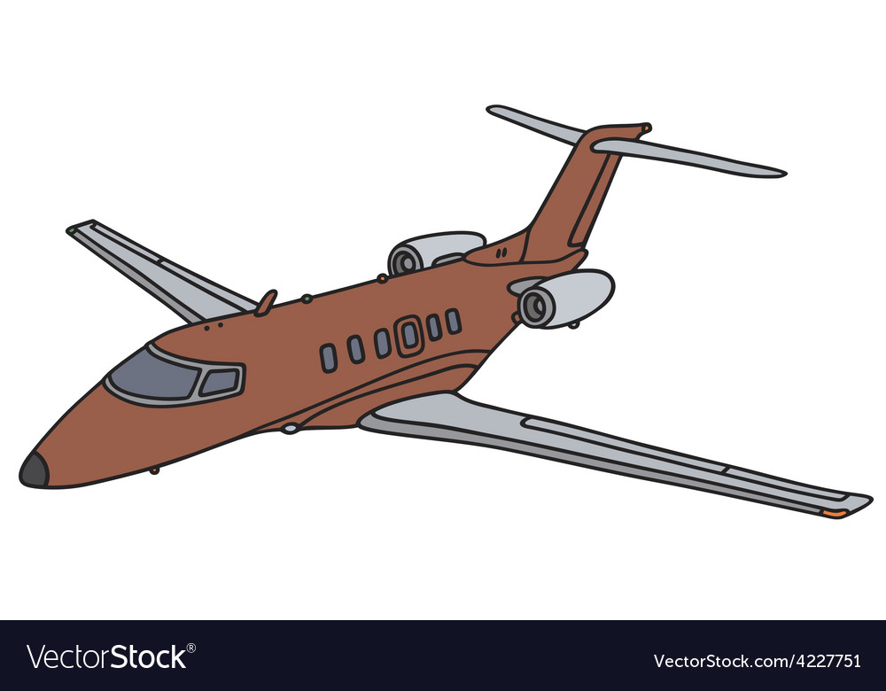 Red business jet vector | Price: 1 Credit (USD $1)