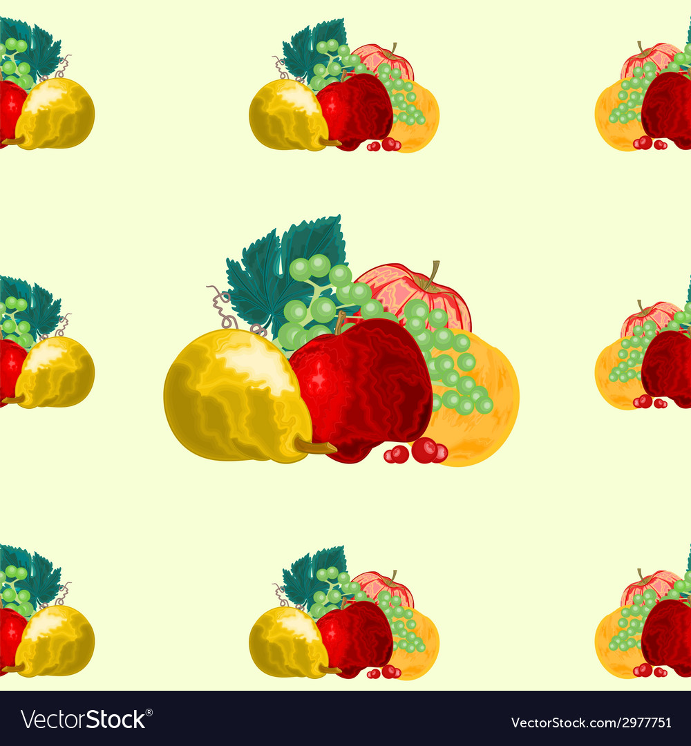 Seamless texture fruit healthy food vector | Price: 1 Credit (USD $1)