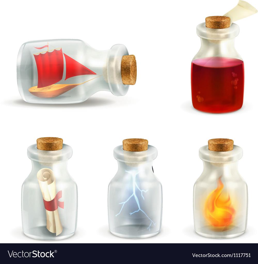Set of jars vector | Price: 1 Credit (USD $1)