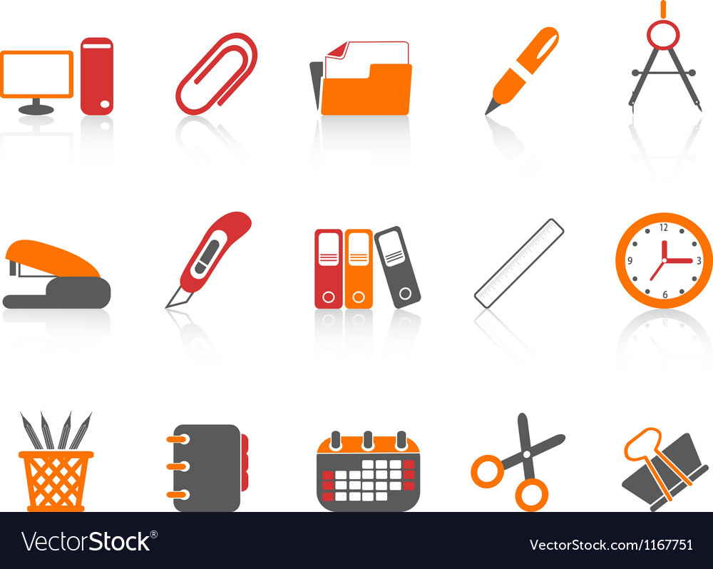 Simple office tools icon vector | Price: 1 Credit (USD $1)
