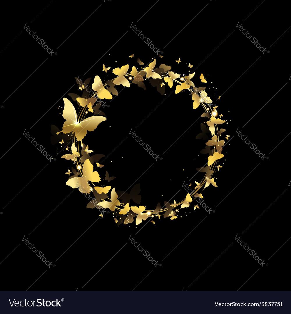 Wreath of butterflies vector | Price: 1 Credit (USD $1)