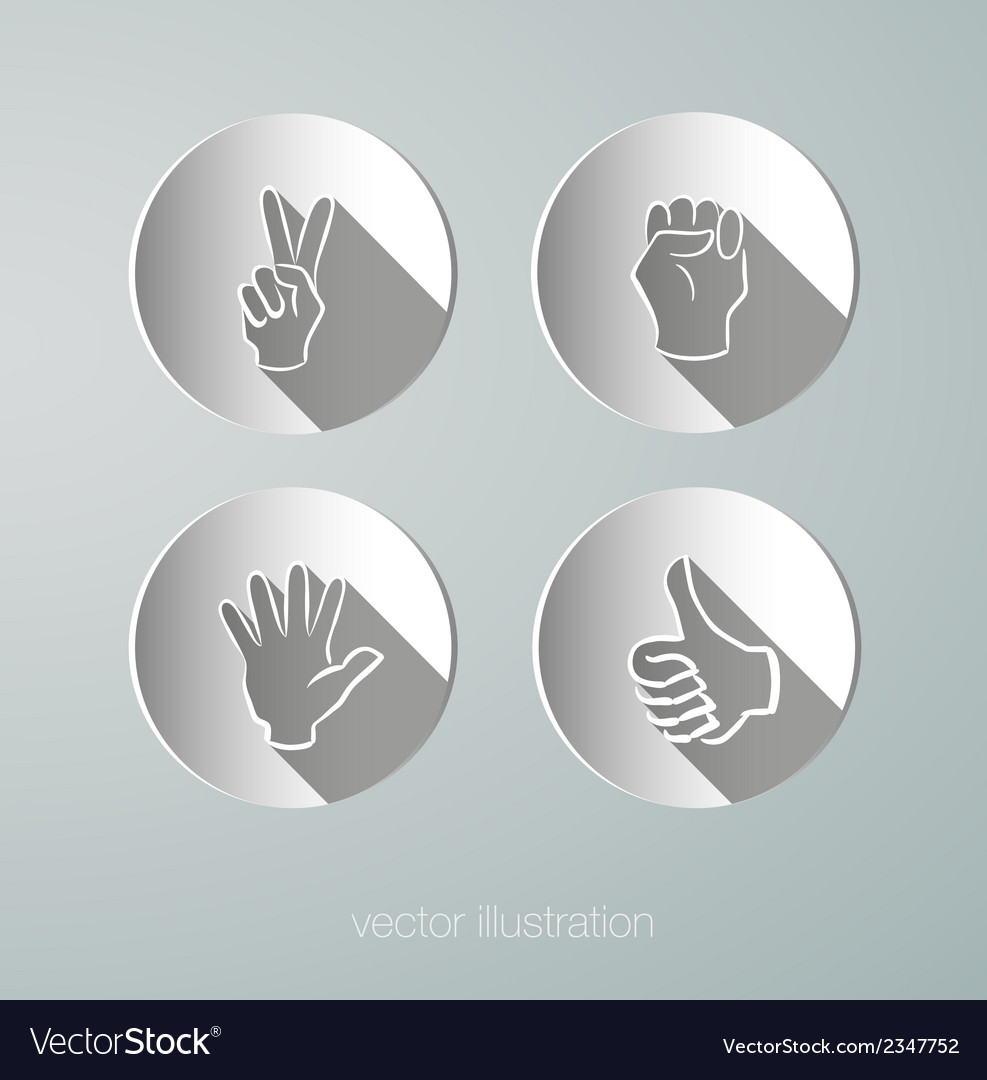 Paper icons hands vector | Price: 1 Credit (USD $1)