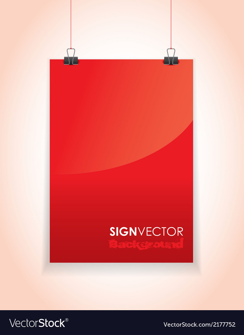 Red paper sign vector | Price: 1 Credit (USD $1)