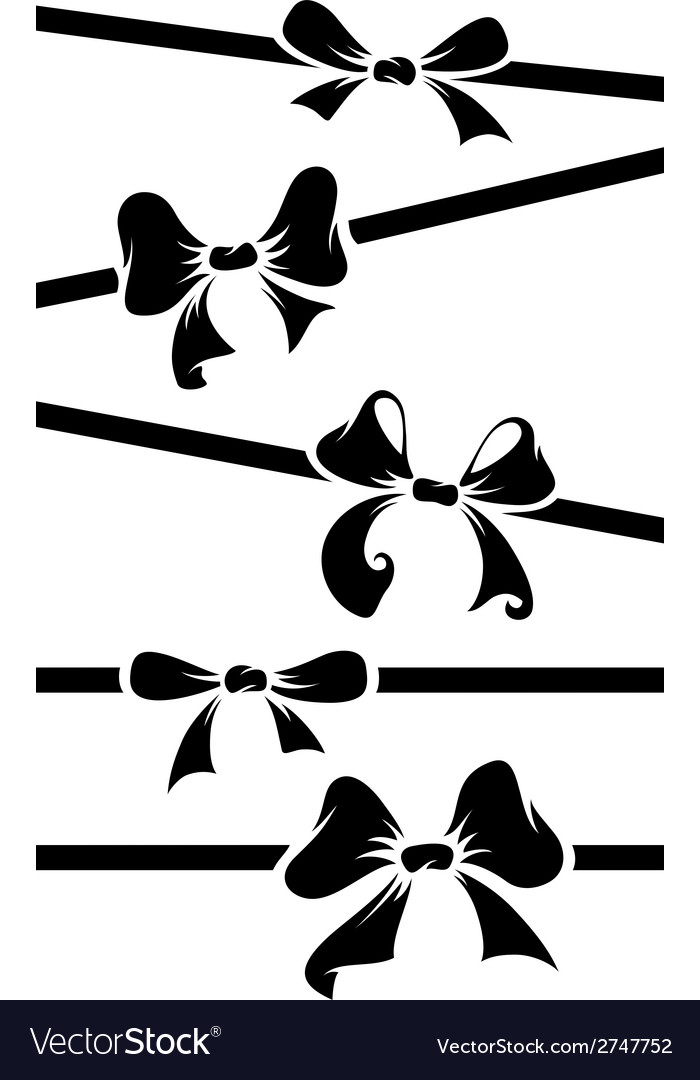 Silhouettes bows vector | Price: 1 Credit (USD $1)