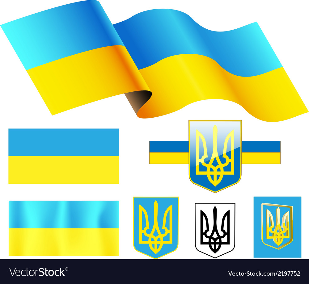Ukraine flag vector | Price: 1 Credit (USD $1)