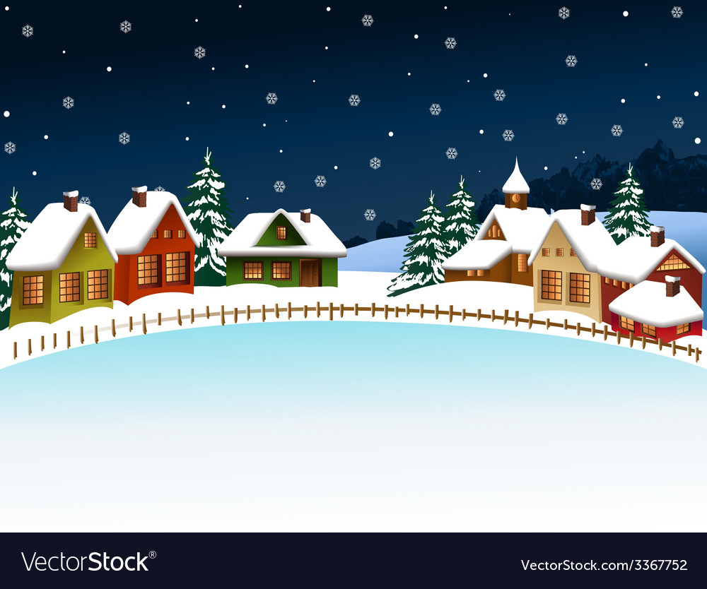 Winter village vector | Price: 1 Credit (USD $1)