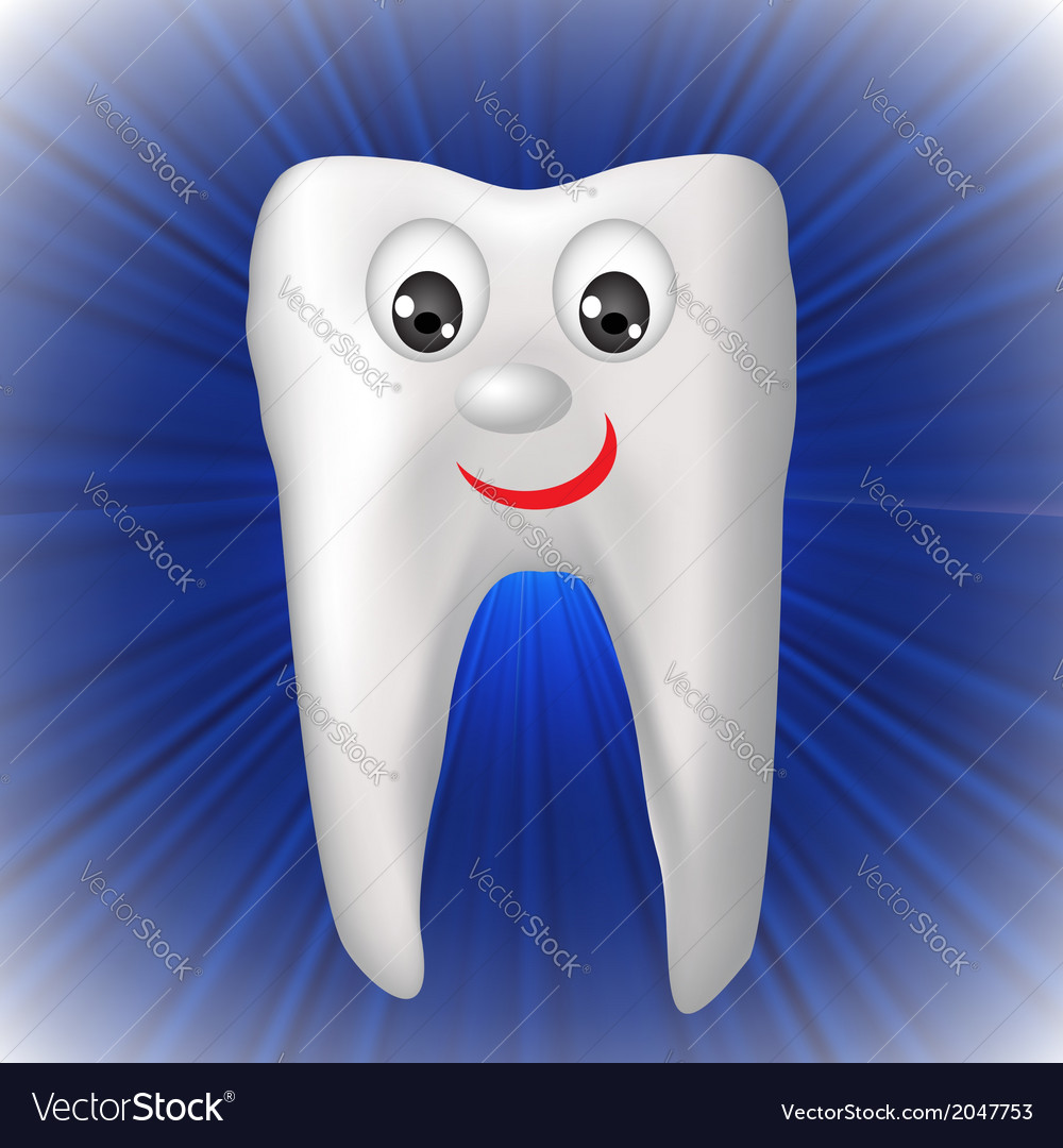 Cheerful tooth vector | Price: 1 Credit (USD $1)