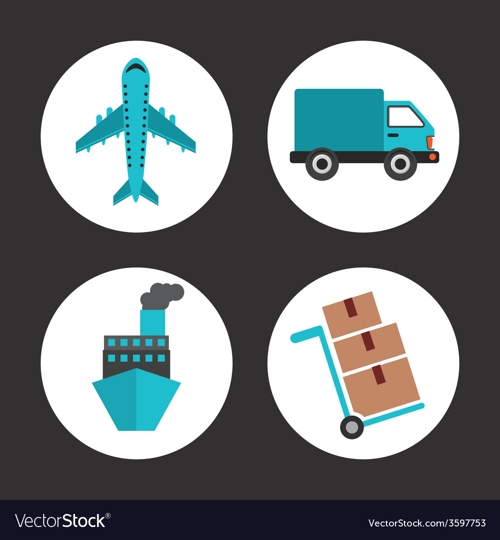 Delivery icons vector | Price: 1 Credit (USD $1)