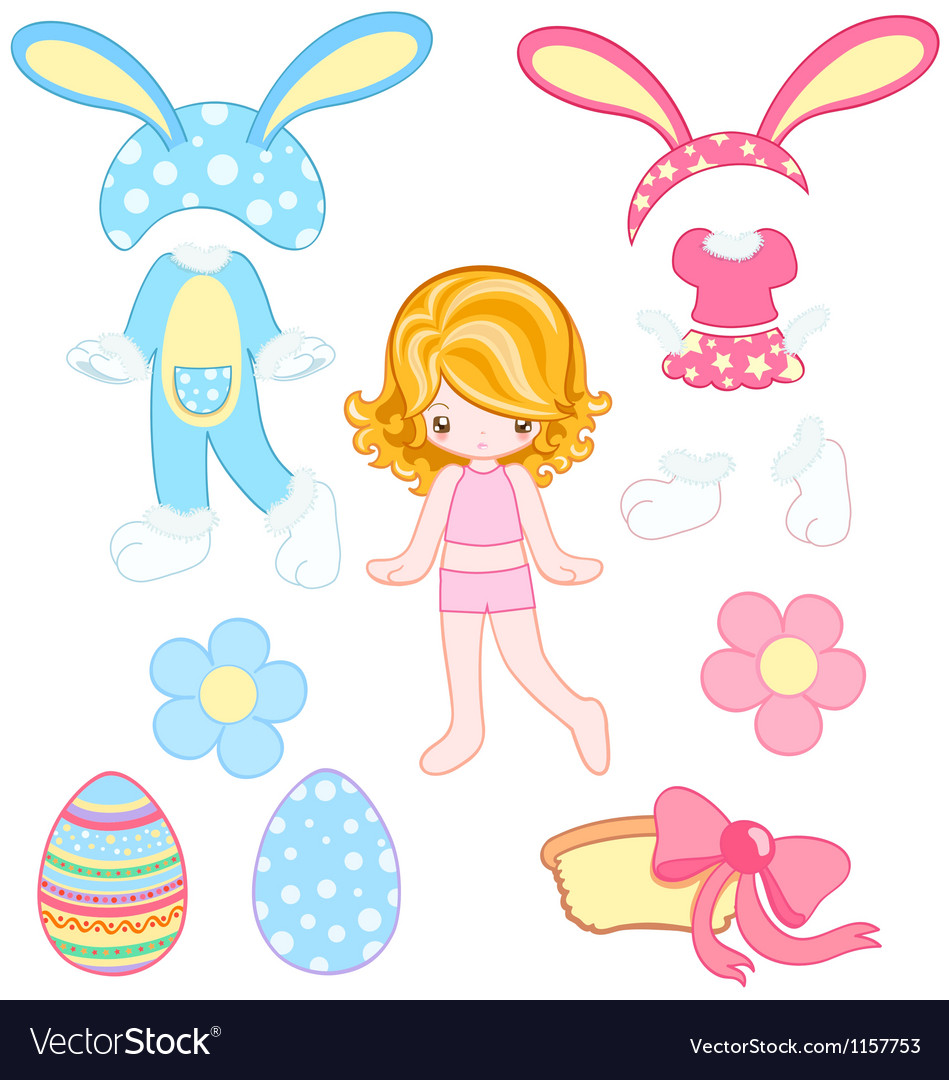 Easter dress up vector | Price: 1 Credit (USD $1)