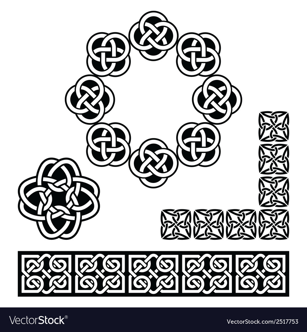 Irish celtic design - patterns knots and braids vector | Price: 1 Credit (USD $1)