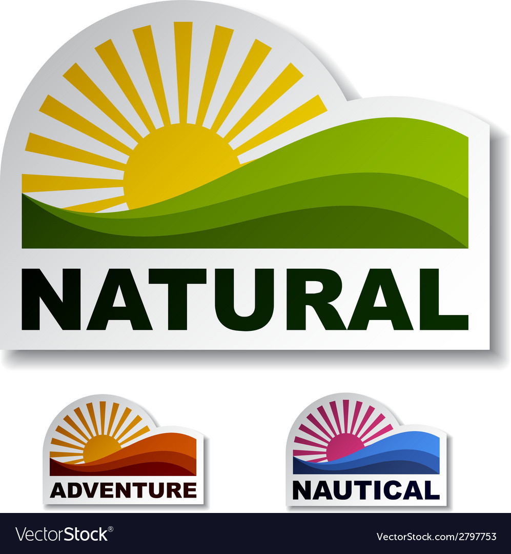 Natural adventure nautical stickers vector | Price: 1 Credit (USD $1)