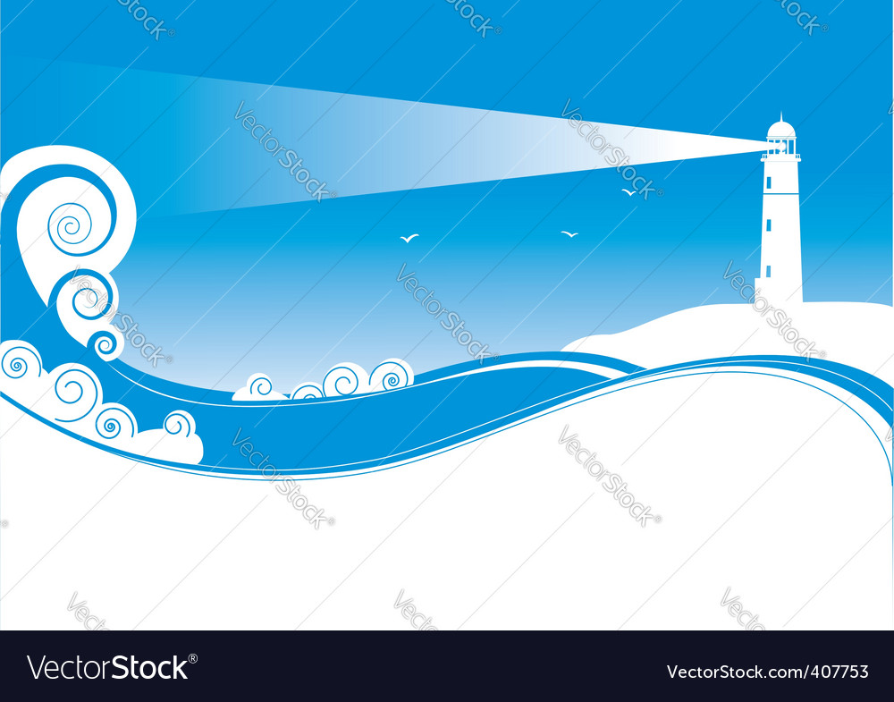 Sea lighthouse vector | Price: 1 Credit (USD $1)
