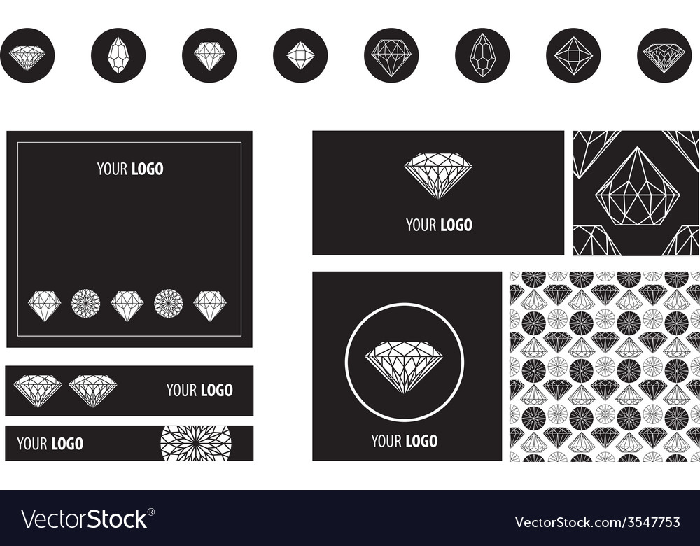 Set diamond new ads vector | Price: 1 Credit (USD $1)