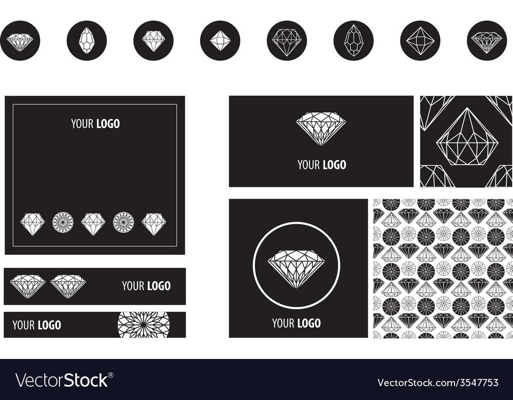 Set diamond new ads vector | Price: 1 Credit (USD $1)