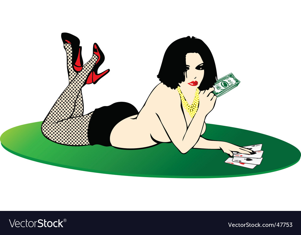 Sexy lady in casino vector | Price: 1 Credit (USD $1)