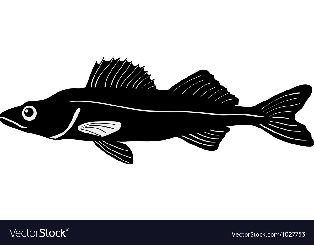 Silhouette of pike vector | Price: 1 Credit (USD $1)