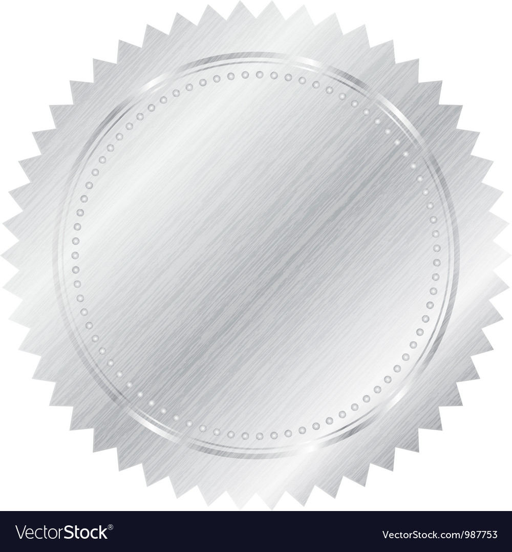 Silver seal vector | Price: 1 Credit (USD $1)