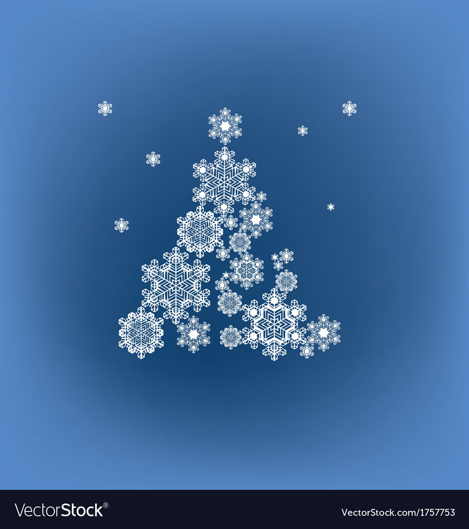 Stylized silhouette christmas tree formed vector | Price: 1 Credit (USD $1)